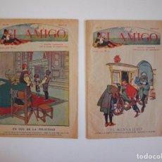 Livros de Banda Desenhada: EL AMIGO Nº 120 Y 122 - LOTE DE 2 REVISTAS - HERMANOS MARISTAS - BARCELONA 1920. Lote 219552801