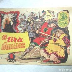 Livros de Banda Desenhada: EL TIRÀ DE BURRIAC Nº 1 COL·LECCIÓ HISTÒRIA I LLEGENDA ANY 1956. MED. 22 X 15,5 CM. Lote 219571660