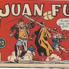 Tebeos: JUAN FURIA Nº 20, ORIGINAL DIFICIL, DE HARO 1950 MUY BIEN -- LEER TODO. Lote 221112416