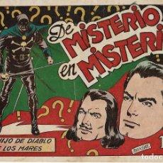 Tebeos: EL HIJO DEL DIABLO DE LOS MARES Nº 20, EL DIFICIL ORIGINAL, TORAY 1949 MUY BIEN -- LEER TODO. Lote 221356223