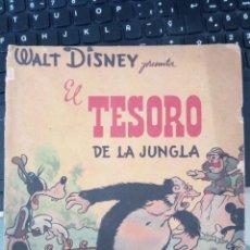 Tebeos: EL TESORO DE LA JUNGLA , EDITORIAL ABRIL AÑO 1942, WALT DISNEY, COMIC 24 PAGINAS MAS CUBIERTAS. Lote 221471610