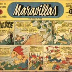Giornalini: MARAVILLAS-199 (1-7-1943) BIBLIOTECA DE FLECHAS Y PELAYOS. Lote 222495747