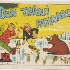 Tebeos: DON TRIQUI Nº 4. DON TRIQUI PATINADOR (16X21) AMELLER 1943. NÚMERO DIFICIL. Lote 223398122
