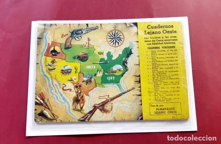 Tebeos: CUADERNOS LEJANO OESTE ORIGINAL Nº 12 -RARO y DIFICIL - Foto 2 - 225297855