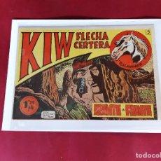 Tebeos: KIW FLECHA CERTERA Nº 9 -GUION Y DIBUJOS HERMANOS RAMOS-1954 -EXCELENTE ESTADO. Lote 226509680