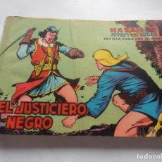 Tebeos: EL JUSTICIERO NEGRO COMPLETA SUELTA ORIGINAL. Lote 226756815