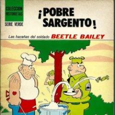 Tebeos: POBRE SARGENTO - BEETLE BAILEY - COLECCION HISTORIETAS SERIE VERDE - SUSAETA 1973 - UNICO EN TC. Lote 226802305