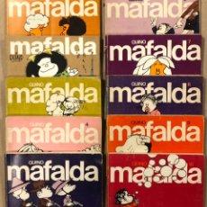 Tebeos: MAFALDA N° 1, 2, 3, 4, 5, 6, 7, 8, 9 Y 10. QUINO. EDITORIAL LUMEN.. Lote 226833015
