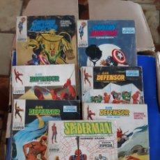 Livros de Banda Desenhada: COMICS CAPITÁN AMÉRICA, DAN DEFENSOR Y SPIDERMAN. Lote 227958550