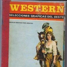 Tebeos: WESTERN SELECCIONES GRAFICAS DEL OESTE.2 TOMOS.PROCUCCIONES EDITORIALES.1972. Lote 228331325