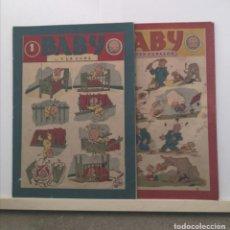 Tebeos: BABY, 2 EJEMPLARES. ED. BARCELONESA, 1946. RAROS. Lote 228548785