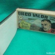 Tebeos: DIEGO VALOR ENCUADERNADO DEL Nº 97 AL Nº 124 + ALMANAQUE 2055... Lote 229334285