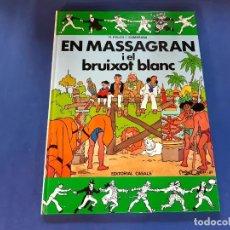 Tebeos: EN MASSAGRAN I EL BRUIXOT BLANC -1ª EDICION 1987 EN CATALAN -IMPECABLE ESTADO. Lote 229707045