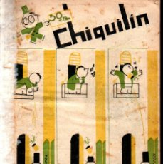 Tebeos: CHIQUILÍN 2ª ÉPOCA NÚMS. 1 AL 14 (1926). Lote 229869515
