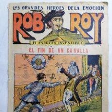 Tebeos: ROB ROY - EL ESCOCES INVENCIBLE, Nº 17, EL FIN DE UN CANALLA, EDITORIAL EL GATO NEGRO. Lote 233529835
