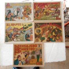 Tebeos: EL JINETE DEL DIABLO, EL JINETE SALVADOR, ORIGINALES NºS - 7,8,10,11,14 EDI. LERSO 1946. Lote 233792955
