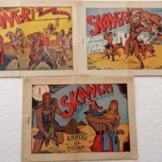 Tebeos: SKANERY NºS 2,3,4 SIN ABRIR , ORIGINALES EDI, MANRAF 1954. Lote 233935225