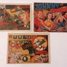 Tebeos: JOHNNY EL TEMERARIO ORIGINALES NºS - 1,3,5 - IBERO AMERICANAS 1948 NºS 1 Y 5 SIN ABRUR. Lote 234496590