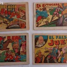 Tebeos: EL CABALLERO DEL ANTIFAZ ROJO 1946 EDI. EUROPA Nº 2 Y 4 - EL CABALLERO FANTASMA 3 Y 8 1974 ,SATURNO. Lote 234678485