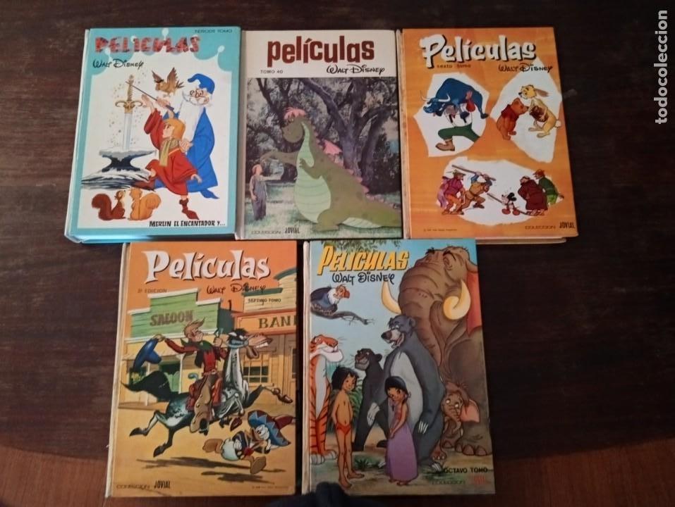 5 TOMOS TEBEOS CÓMICS PELÍCULAS DISNEY JOVIAL (Tebeos y Comics - Tebeos Otras Editoriales Clásicas)