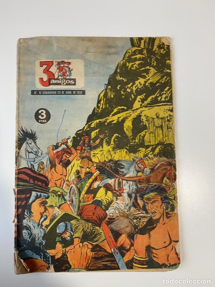 3 AMIGOS. Nº 51. SEMANARIO 23 DE ABRIL DE 1960. (Tebeos y Comics - Tebeos Otras Editoriales Clásicas)