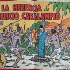 Tebeos: LA HERENCIA DE SIMPLICIO CARALAMPIO PAIDOS MADRID ORIGINAL CT3. Lote 235511845