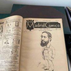 Tebeos: MADRID CÓMICO, AÑO 1892 COMPLETO, NÚMEROS 464 AL 515 MAS ALMANAQUE. CON MECACHIS, CILLA, ROJAS, ETC. Lote 235888515
