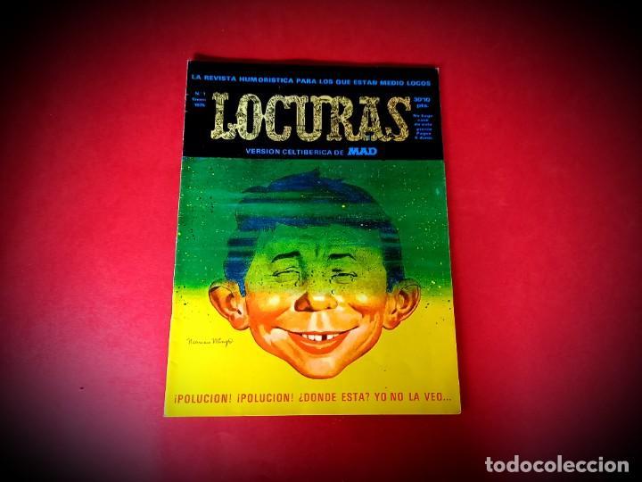 LOCURAS Nº 1 -EUREDIT 1975 MAD ESPAÑA - EXCELENTE ESTADO-VER FOTOS (Tebeos y Comics - Tebeos Otras Editoriales Clásicas)