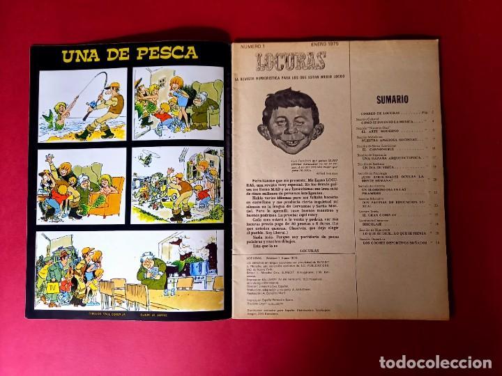 Tebeos: LOCURAS Nº 1 -EUREDIT 1975 MAD ESPAÑA - EXCELENTE ESTADO-VER FOTOS - Foto 2 - 236945475