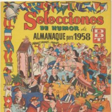 Tebeos: SELECCIONES DE HUMOR DE EL DDT. ALMANAQUE 1958. Lote 244002920