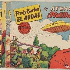 Tebeos: FREDY BARTON EL AUDAZ. VALENCIANA 1960. COLECCIÓN COMPLETA 16 EJEMPLARES. 12 EJEMPLARES SIN ABRIR. Lote 244003135
