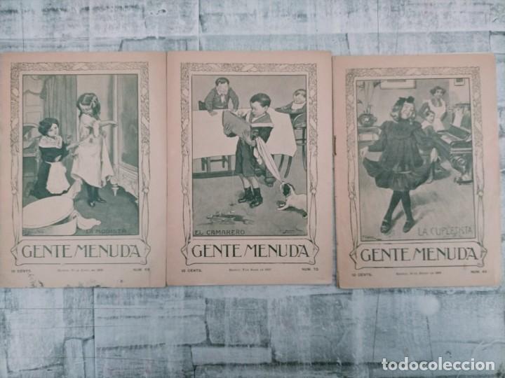 GENTE MENUDA N 69 1909 N 70 N 63 (Tebeos y Comics - Tebeos Clásicos (Hasta 1.939))