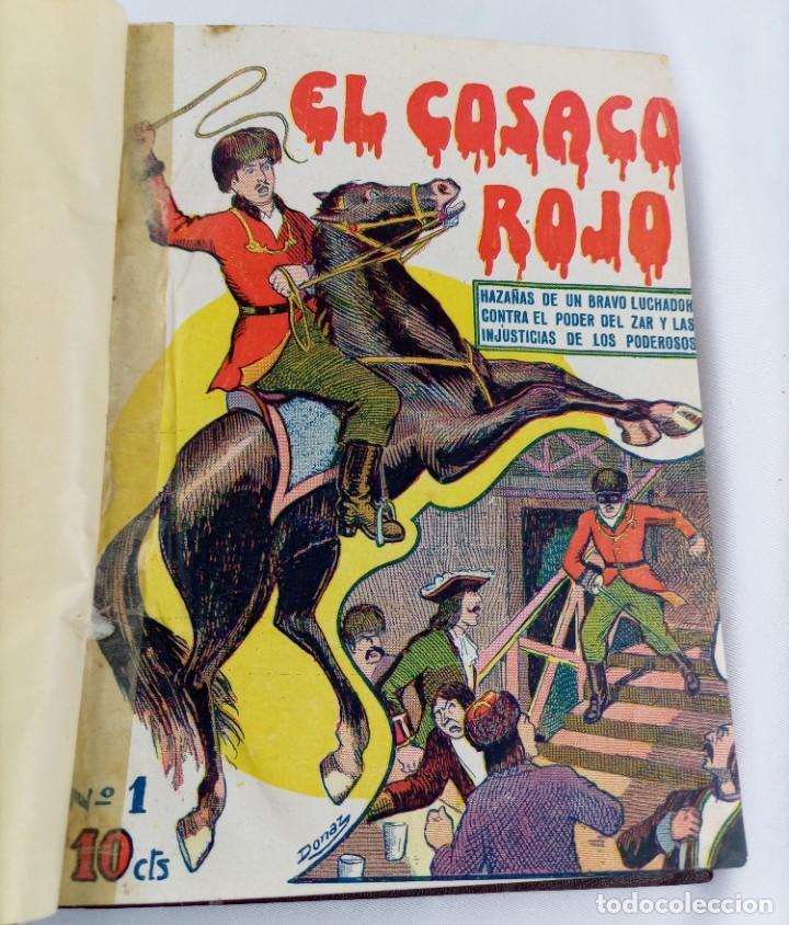 Tebeos: EL COSACO ROJO - AVENTURAS HEROE ESTEPA - ILUSTRA DONAZ - 24 NÚMEROS - COMPLETA - GATO NEGRO - Foto 4 - 245609035