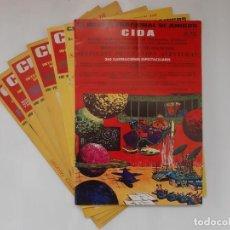 Giornalini: CIDA CLUB INTERNACIONAL DE AMIGOS NUM. 84, 86, 87, 88, 89, 91 Y 92 AÑO 1979. Lote 246116945