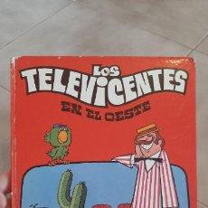 Tebeos: ANTIGUO TOMO LIBRO COMIC TEBEOLOS TELEVICENTES EN EL OESTE COLECCION EDICLAS 1976 FHER LAU TVTE. Lote 252198845
