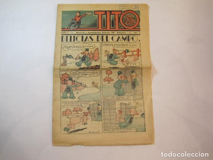 TITO-AÑO 1-NUMERO 1-DIBUJOS BEQCER-TEBEO ANTIGUO-COL COMPLETA-SOLO SALIO UNO-VER FOTOS-(V-22.630) (Tebeos y Comics - Tebeos Clásicos (Hasta 1.939))