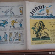 Tebeos: JORDI SETMANARI INFANTIL Nº 2 1-3-1928. Lote 256133020