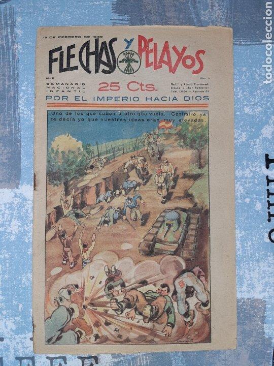 FLECHAS Y PELAYOS N. 11, CON RECORTABLE DE SOLDADOS (Tebeos y Comics - Tebeos Otras Editoriales Clásicas)