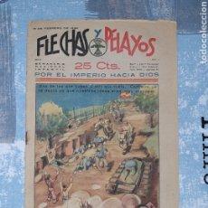 Tebeos: FLECHAS Y PELAYOS N. 11, CON RECORTABLE DE SOLDADOS. Lote 286242863