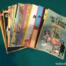 Tebeos: GRAN LOTE 21 TINTÍN--EDICIONES DEL PRADO -- EN FRANCES. Lote 260773045