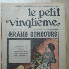 Tebeos: TINTÍN. LE PETIT VINGTIÈME. NUM 37. 1935. Lote 262631705
