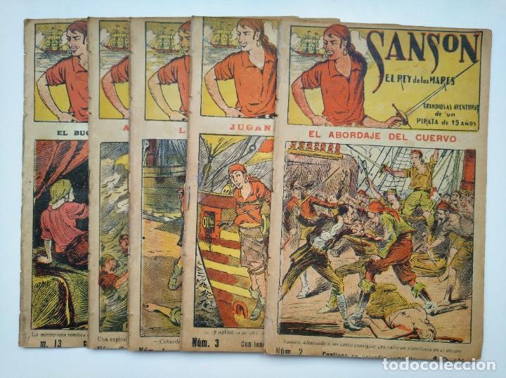 SANSÓN, EL REY DE LOS MARES - NÚMEROS 2-3-4-5 Y 13, RAROS (Tebeos y Comics - Tebeos Clásicos (Hasta 1.939))