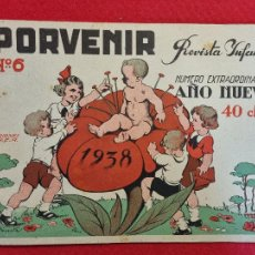 BDs: PORVENIR REVISTA INFANTIL Nº 6 1938 GUERRA CIVIL NUMERO EXTRAORDINARIO AÑO NUEVO ORIGINAL T4. Lote 265539599