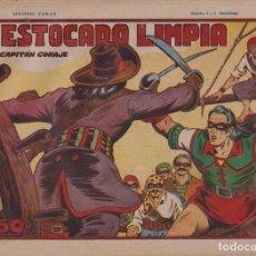 BDs: EL CAPITÁN CORAJE 1ª Nº 20. TORAY 1946 (21X32) (MÁRGENES BLANCOS CON SU ANCHURA NORMAL, NO VISIBLES. Lote 267223679