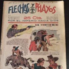 Tebeos: TEBEO FLECHAS Y PELAYOS 1939.COMPLETO Y EN MUY BUEN ESTADO.. Lote 267258134