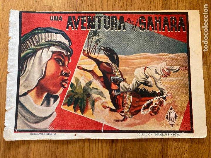 UNA AVENTURA EN EL SAHARA - COLECCION DIAMANTE NEGRO / EDICIONES RIALTO - ORIGINAL - DIFICIL - GCH (Tebeos y Comics - Tebeos Otras Editoriales Clásicas)