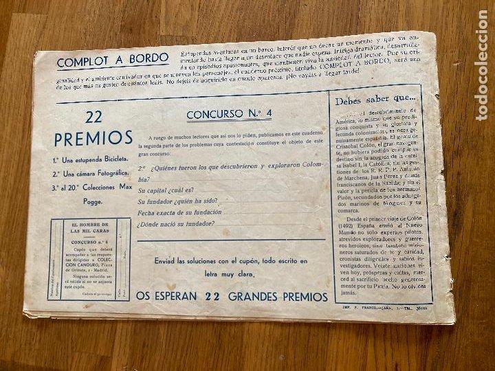 Tebeos: EL HOMBRE DE LAS MIL CARAS - COLECCION CANGURO - 1 PTA - ORIGINAL - MUY DIFICIL - GCH - Foto 6 - 269197568