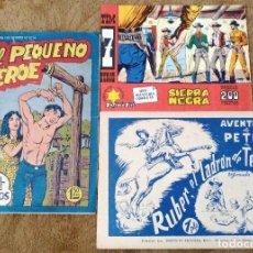 Tebeos: AVENTURA DE PETER Nº 1 + PEQUEÑO HEROE Nº 66 + TIM 7 TIROS Nº 74 (3 TEBEOS).. Lote 243341095