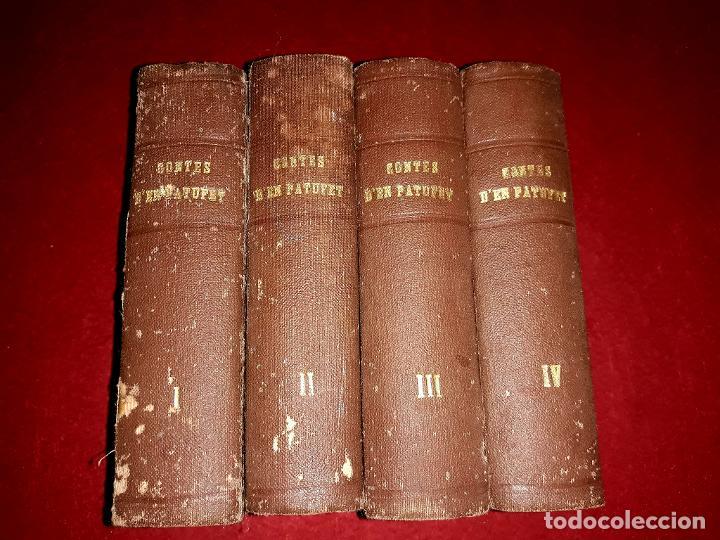 Tebeos: Contes d´en Patufet 4 Volums ( Anys 30 ) i Regal Volum esquitx i volum de contes mès petit - Foto 3 - 274917463