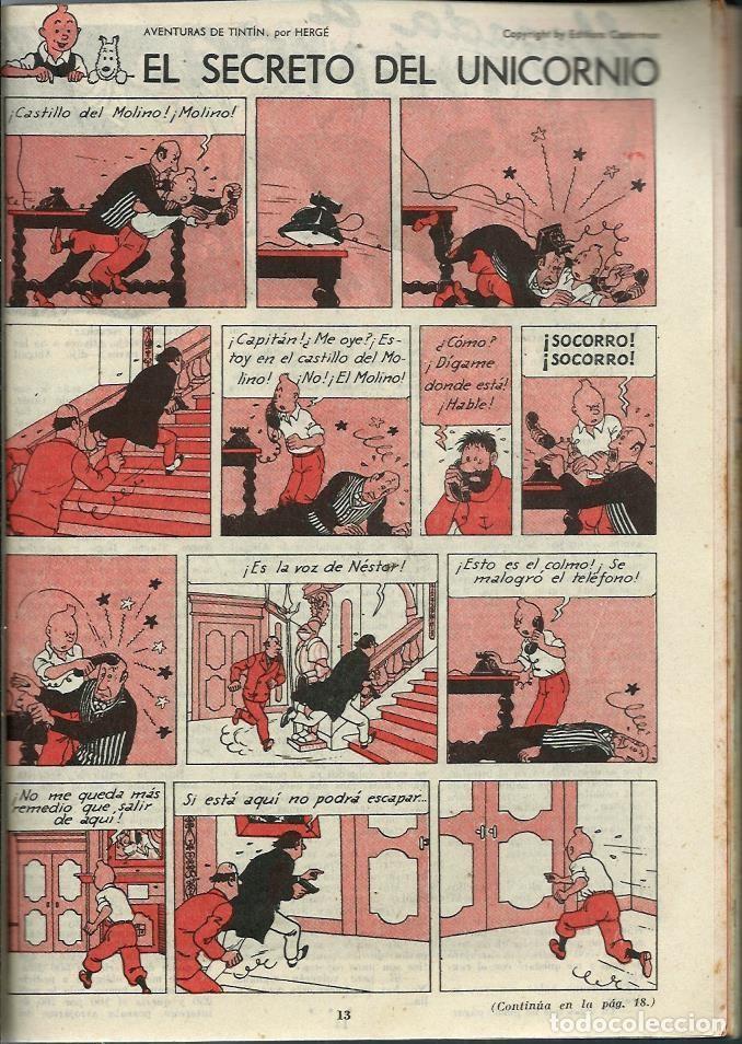 Tebeos: 3 AMIGOS EXTRAORDINARIO VERANO Nº 20 21 22 1958 - CON TINTIN: EL SECRETO DEL UNICORNIO, DE HERGE - Foto 2 - 276538913